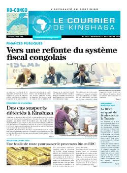 Les Dépêches de Brazzaville : Édition le courrier de kinshasa du 13 septembre 2017