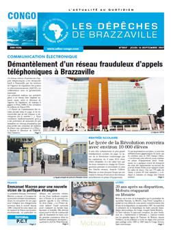 Les Dépêches de Brazzaville : Édition brazzaville du 14 septembre 2017