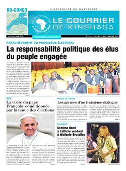 Les Dépêches de Brazzaville : Édition le courrier de kinshasa du 14 septembre 2017
