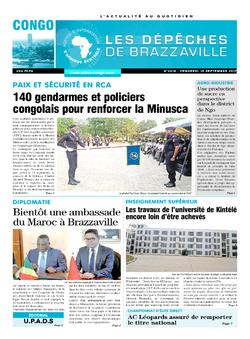 Les Dépêches de Brazzaville : Édition brazzaville du 15 septembre 2017
