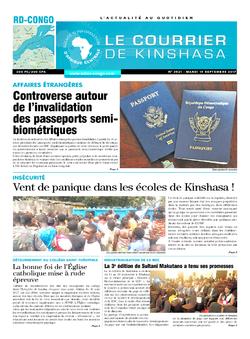 Les Dépêches de Brazzaville : Édition le courrier de kinshasa du 19 septembre 2017