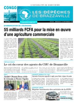 Les Dépêches de Brazzaville : Édition brazzaville du 20 septembre 2017