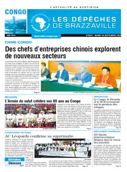 Les Dépêches de Brazzaville : Édition brazzaville du 26 septembre 2017