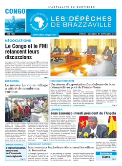 Les Dépêches de Brazzaville : Édition brazzaville du 27 septembre 2017
