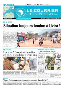 Les Dépêches de Brazzaville : Édition le courrier de kinshasa du 29 septembre 2017