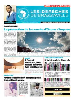 Les Dépêches de Brazzaville : Édition du 6e jour du 30 septembre 2017