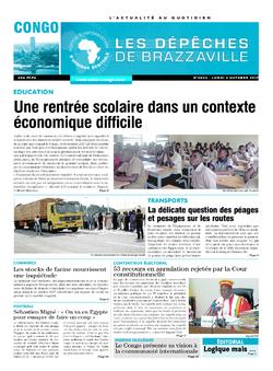 Les Dépêches de Brazzaville : Édition brazzaville du 02 octobre 2017