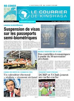 Les Dépêches de Brazzaville : Édition le courrier de kinshasa du 02 octobre 2017