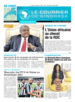 Les Dépêches de Brazzaville : Édition le courrier de kinshasa du 03 octobre 2017