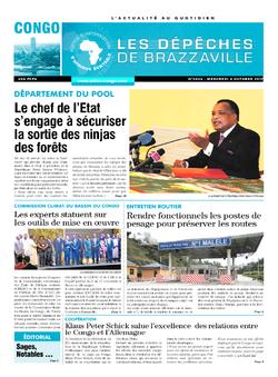 Les Dépêches de Brazzaville : Édition brazzaville du 04 octobre 2017