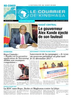 Les Dépêches de Brazzaville : Édition le courrier de kinshasa du 05 octobre 2017