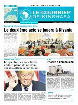 Les Dépêches de Brazzaville : Édition le courrier de kinshasa du 06 octobre 2017