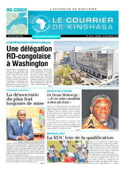 Les Dépêches de Brazzaville : Édition brazzaville du 10 octobre 2017