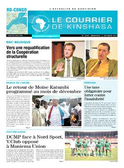 Les Dépêches de Brazzaville : Édition le courrier de kinshasa du 11 octobre 2017