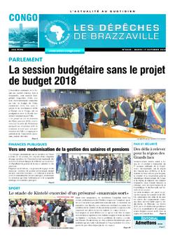 Les Dépêches de Brazzaville : Édition brazzaville du 17 octobre 2017