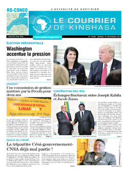Les Dépêches de Brazzaville : Édition le courrier de kinshasa du 17 octobre 2017