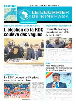 Les Dépêches de Brazzaville : Édition brazzaville du 18 octobre 2017