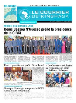Les Dépêches de Brazzaville : Édition brazzaville du 20 octobre 2017