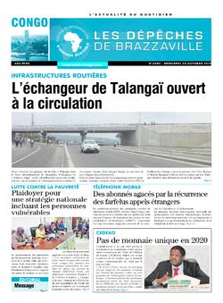 Les Dépêches de Brazzaville : Édition brazzaville du 25 octobre 2017