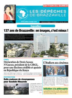 Les Dépêches de Brazzaville : Édition du 6e jour du 28 octobre 2017