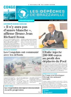 Les Dépêches de Brazzaville : Édition brazzaville du 02 novembre 2017
