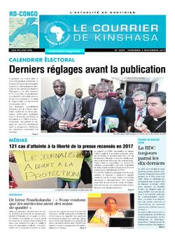 Les Dépêches de Brazzaville : Édition le courrier de kinshasa du 03 novembre 2017