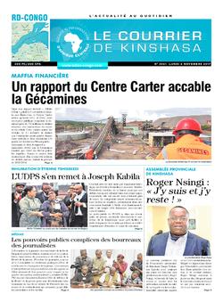 Les Dépêches de Brazzaville : Édition le courrier de kinshasa du 06 novembre 2017