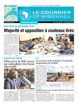 Les Dépêches de Brazzaville : Édition le courrier de kinshasa du 07 novembre 2017