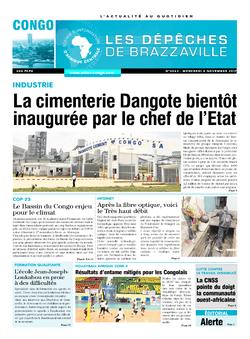 Les Dépêches de Brazzaville : Édition brazzaville du 08 novembre 2017