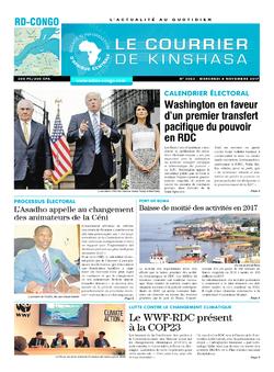 Les Dépêches de Brazzaville : Édition le courrier de kinshasa du 08 novembre 2017