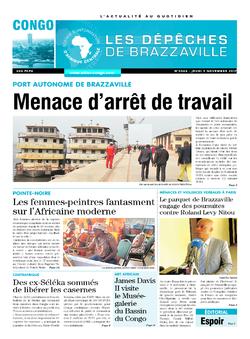 Les Dépêches de Brazzaville : Édition brazzaville du 09 novembre 2017