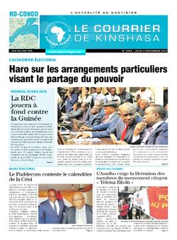 Les Dépêches de Brazzaville : Édition le courrier de kinshasa du 09 novembre 2017