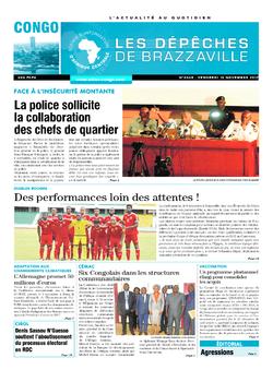 Les Dépêches de Brazzaville : Édition brazzaville du 10 novembre 2017