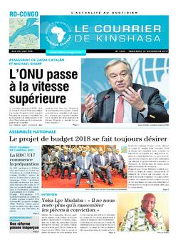 Les Dépêches de Brazzaville : Édition le courrier de kinshasa du 10 novembre 2017