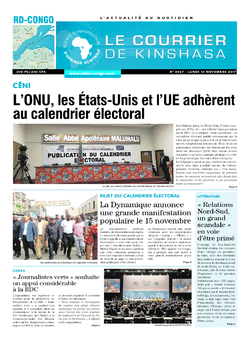 Les Dépêches de Brazzaville : Édition le courrier de kinshasa du 13 novembre 2017