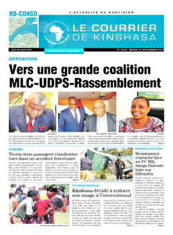 Les Dépêches de Brazzaville : Édition le courrier de kinshasa du 14 novembre 2017