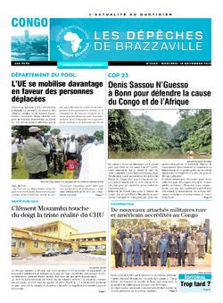 Les Dépêches de Brazzaville : Édition brazzaville du 15 novembre 2017