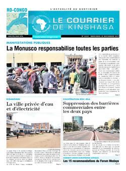 Les Dépêches de Brazzaville : Édition le courrier de kinshasa du 15 novembre 2017
