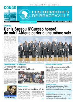 Les Dépêches de Brazzaville : Édition brazzaville du 16 novembre 2017