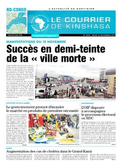 Les Dépêches de Brazzaville : Édition le courrier de kinshasa du 16 novembre 2017