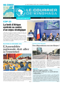 Les Dépêches de Brazzaville : Édition brazzaville du 17 novembre 2017