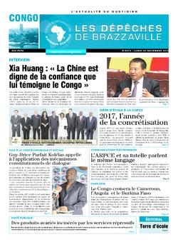 Les Dépêches de Brazzaville : Édition brazzaville du 20 novembre 2017