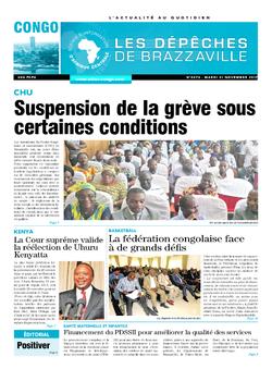 Les Dépêches de Brazzaville : Édition brazzaville du 21 novembre 2017