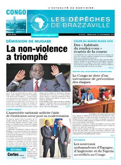 Les Dépêches de Brazzaville : Édition brazzaville du 22 novembre 2017