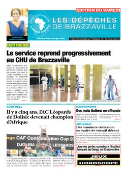 Les Dépêches de Brazzaville : Édition du 6e jour du 25 novembre 2017