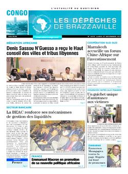 Les Dépêches de Brazzaville : Édition brazzaville du 27 novembre 2017