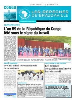 Les Dépêches de Brazzaville : Édition brazzaville du 29 novembre 2017