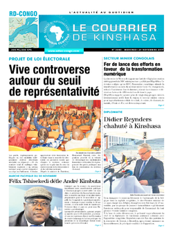 Les Dépêches de Brazzaville : Édition le courrier de kinshasa du 29 novembre 2017