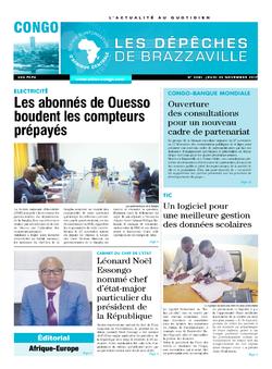 Les Dépêches de Brazzaville : Édition brazzaville du 30 novembre 2017