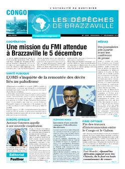Les Dépêches de Brazzaville : Édition brazzaville du 01 décembre 2017